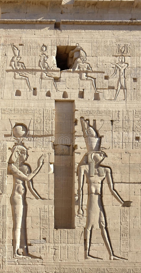 Download Relief At The Temple Of Philae In Egypt Stock Image - Image: 27003885