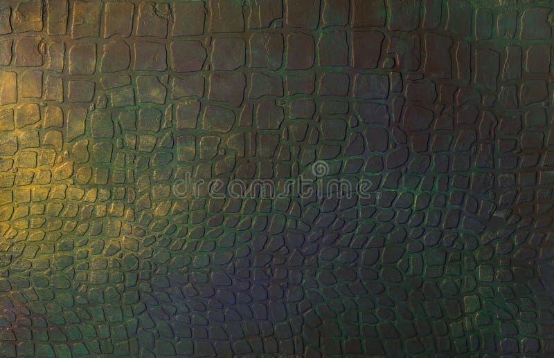 Reliefowa dekoracyjna tynk tekstura z imitacja krokodyla sk?r? obraz stock