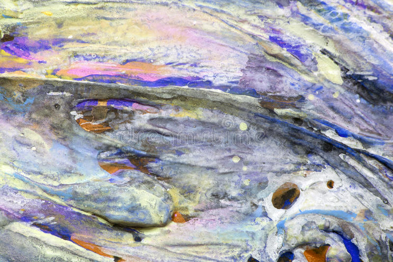 Reliefowi kolorowi uderzenia farba obraz royalty free