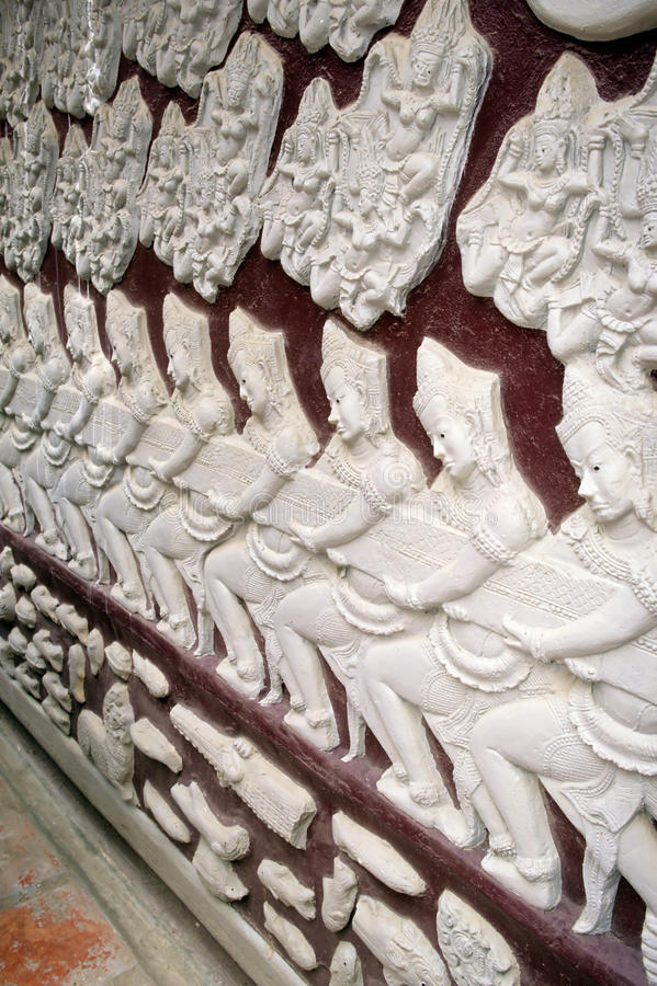 Reliefs- Phnom Penh, Cambodia Royalty Free Stock Photography