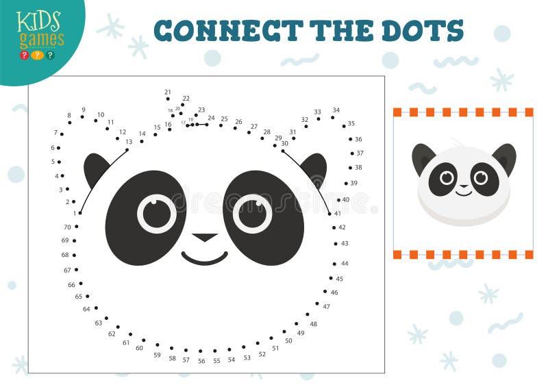 Reliez l'illustration de vecteur de jeu d'enfants de points Activit? d'?ducation pr?scolaire d'enfants illustration stock