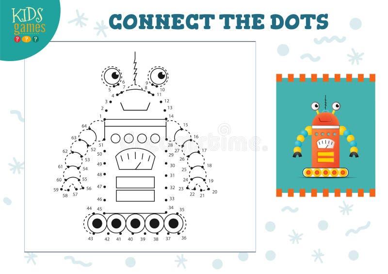 Reliez l'illustration de vecteur de jeu d'enfants de points Activit? ?ducative d'enfants pr?scolaires illustration libre de droits
