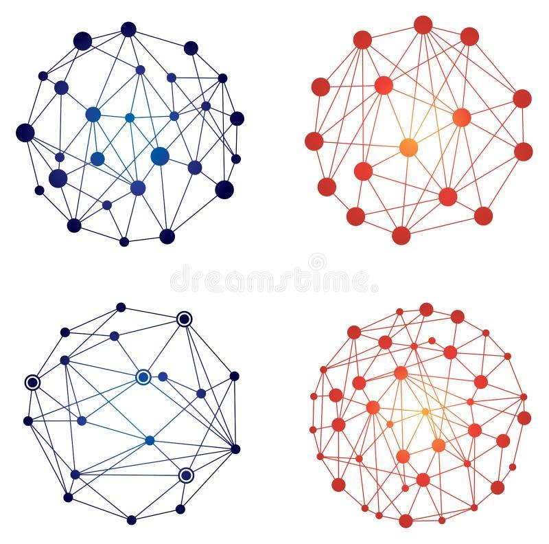 Reliez le logo de réseau illustration libre de droits