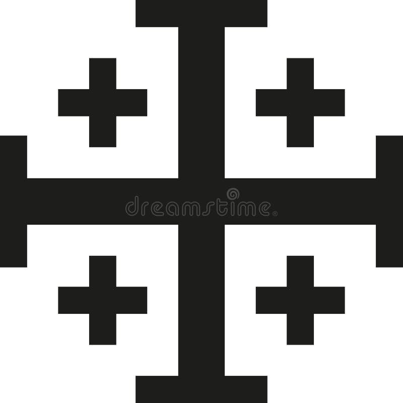 Religião da cruz de Jerusalém ilustração royalty free