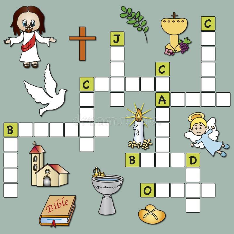 Religião das palavras cruzadas ilustração royalty free