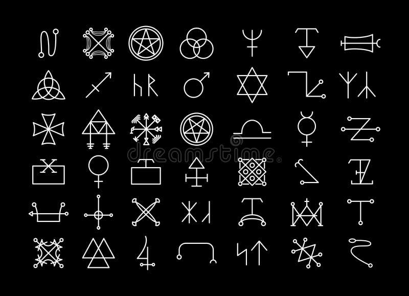 Religião e filosofia, espiritualidade ou ocultismo ilustração royalty free