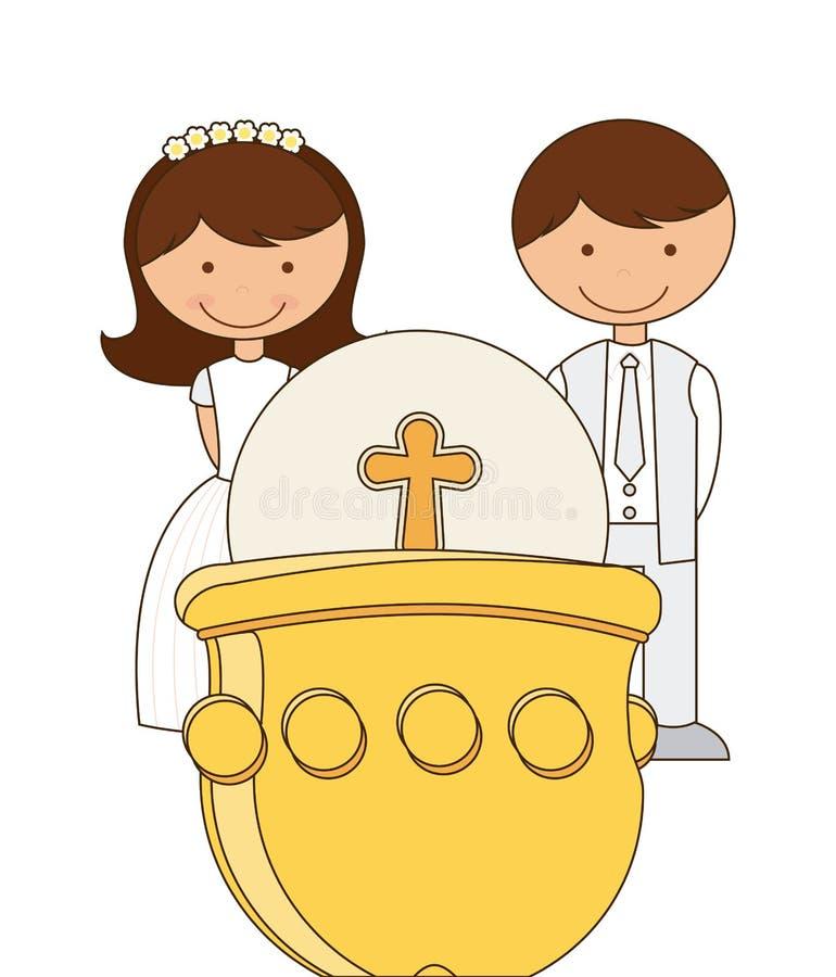 Religión católica stock de ilustración