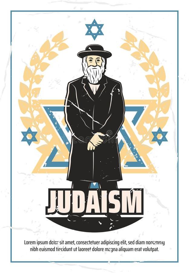 Religión del judaísmo y rabino judío libre illustration
