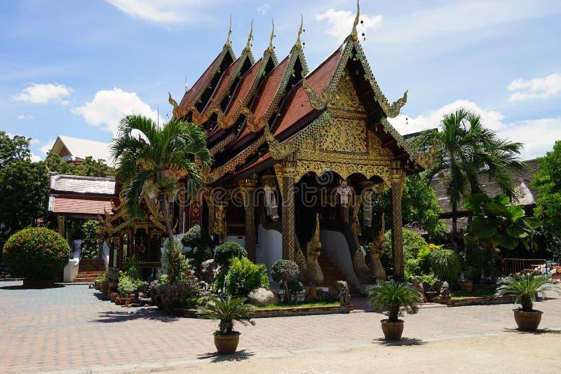Religión del templo del AMI Buda Budismus de Wat Ket Karam Thailand Chiang imagenes de archivo