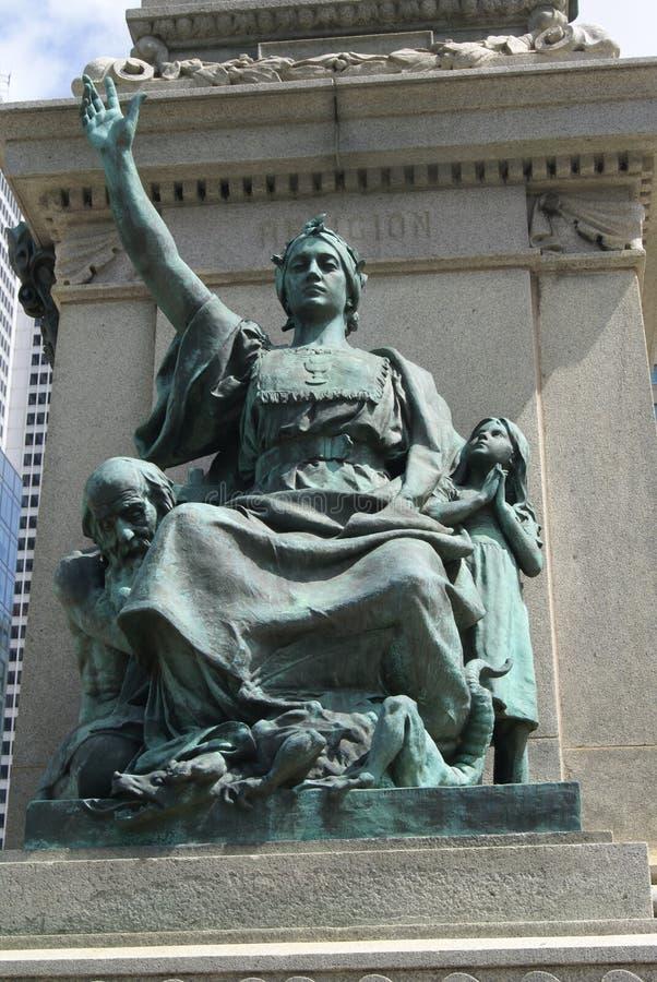 Religión, Ignace Bourget Monument, Montreal, Canadá imagen de archivo