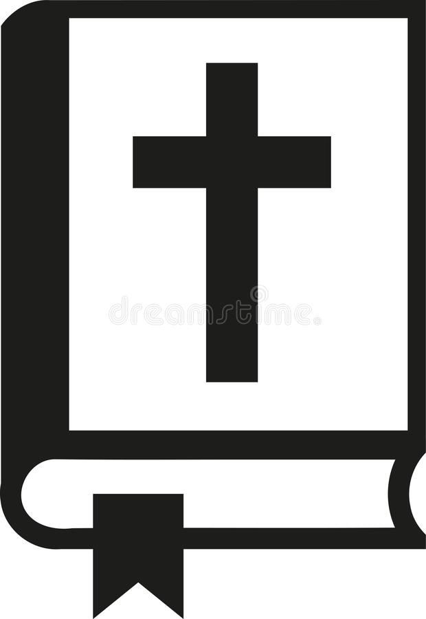 Religión resumida biblia stock de ilustración
