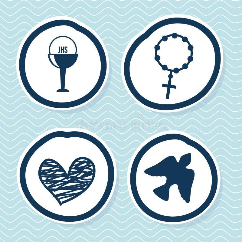 Religiös design vektor illustrationer