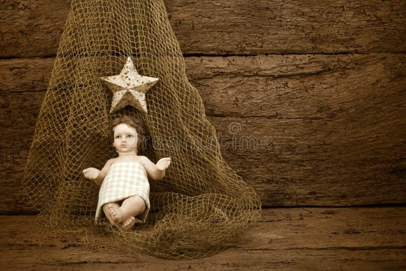 Religiös jul behandla som ett barn Jesus arkivfoton