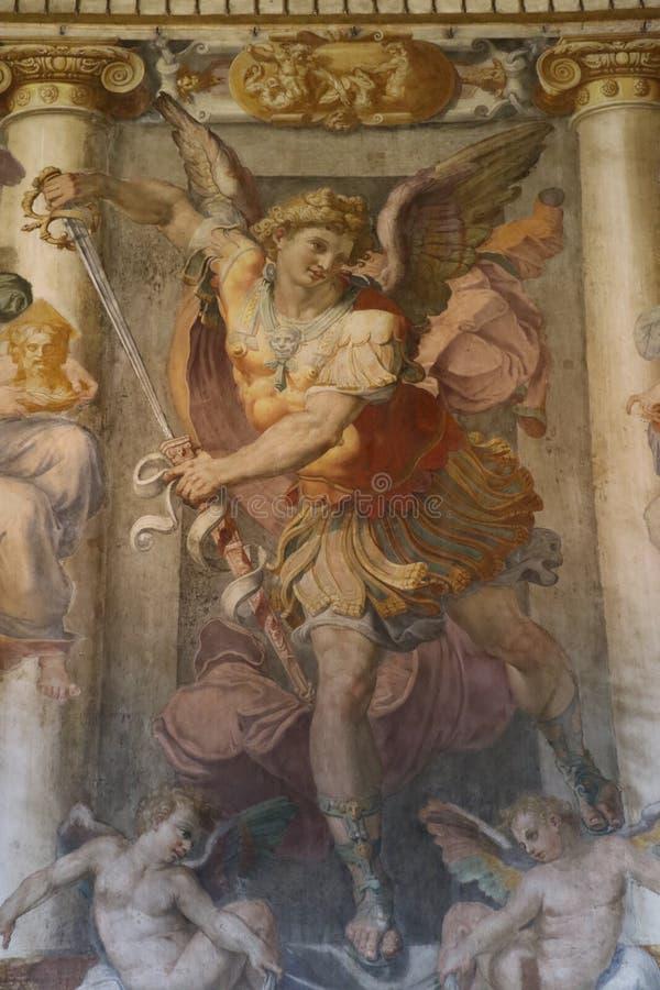 Religiös målning i Rome royaltyfri illustrationer