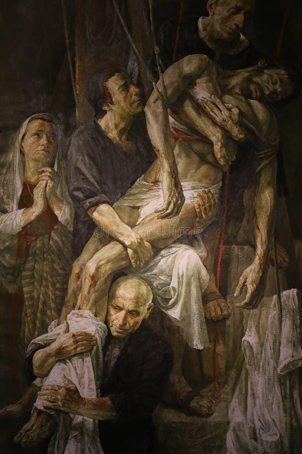 Download Religiös målning i Rome arkivfoto. Bild av kultur, kulturellt - 76704160