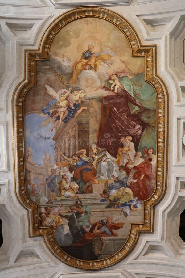 Download Religiös målning i Rome fotografering för bildbyråer. Bild av monument - 76704185