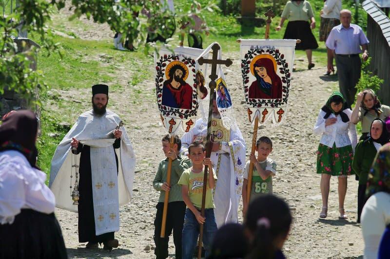 Religiös procession arkivbilder
