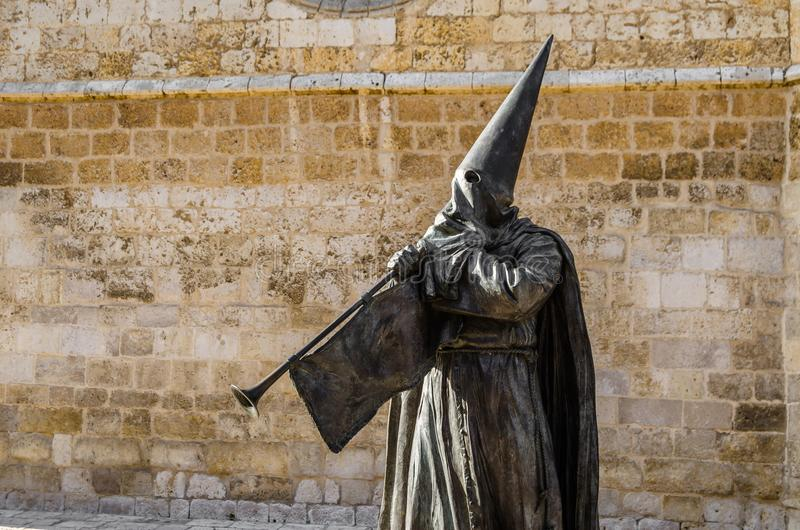Religiös staty i Palencia, Spanien arkivbilder