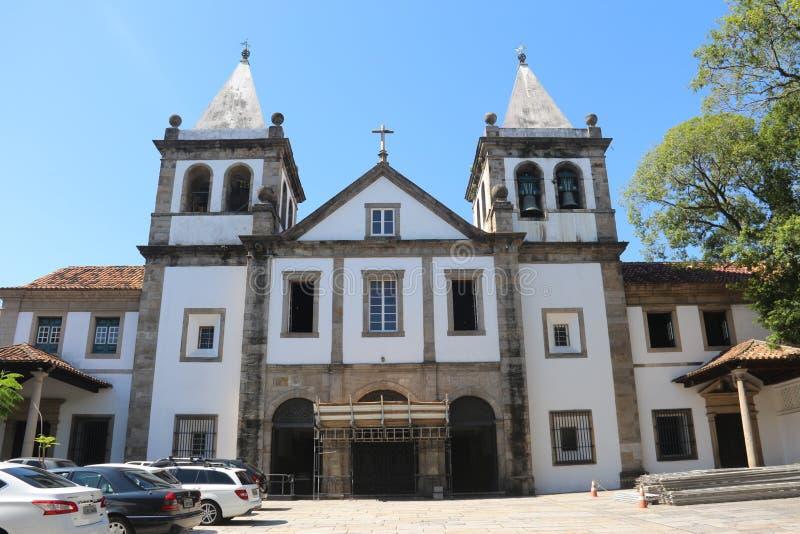 Religiös turism i Rio de Janeiro Downtown royaltyfri foto