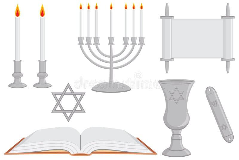 religiösa judiska objekt royaltyfri illustrationer