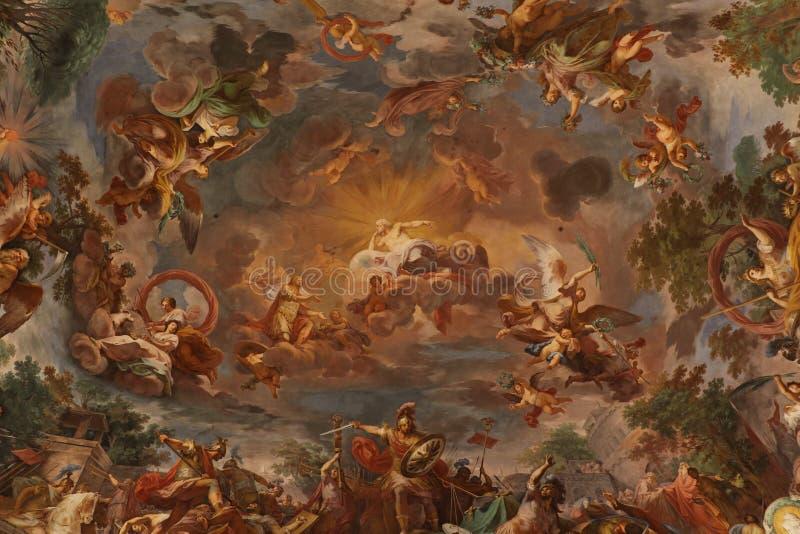 Religiöse Malerei in Rom lizenzfreie abbildung