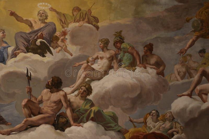 Religiöse Malerei in Rom stock abbildung