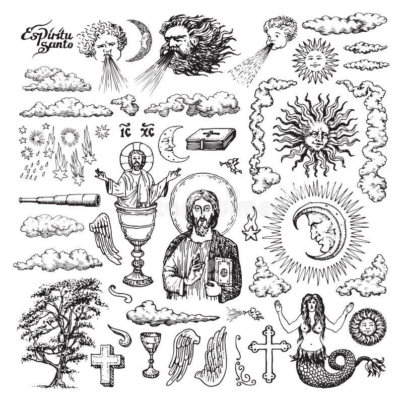 Religiöse und geistige Illustrationen vektor abbildung