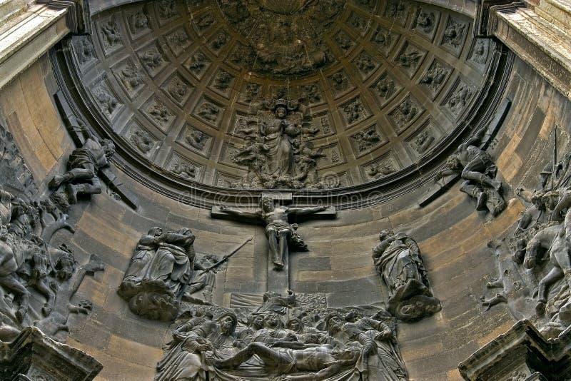 Religiöses Bildhauerkunst Heiliges Peter Church, Viana stockfotografie