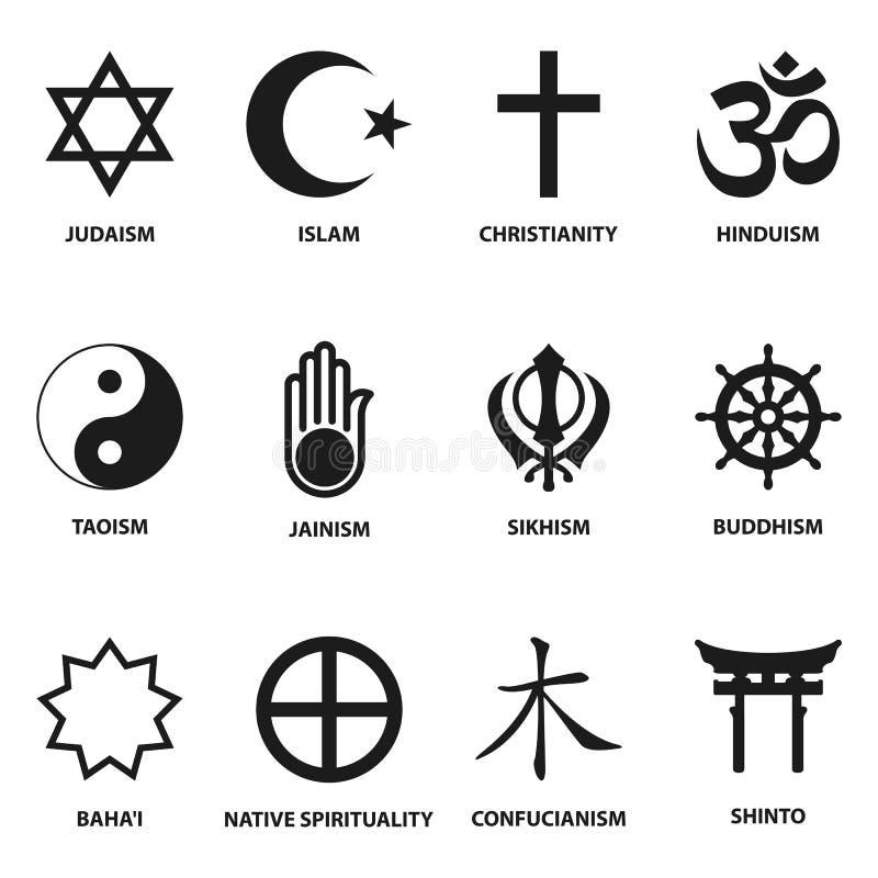 Religiöses Zeichen und Symbole vektor abbildung