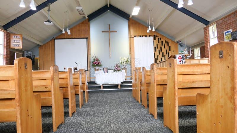 Religiöst kapell eller begravningsbyrå för begravnings- service royaltyfri foto