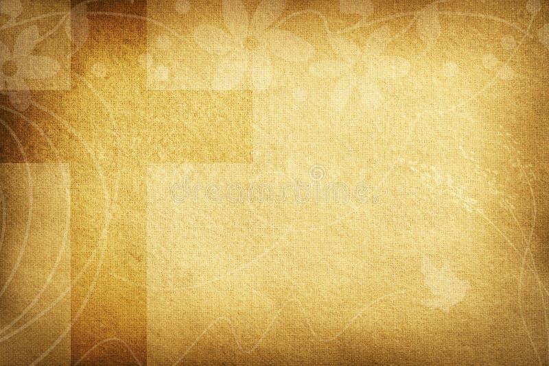Religiöst kort med tygblommor och det stora korset stock illustrationer