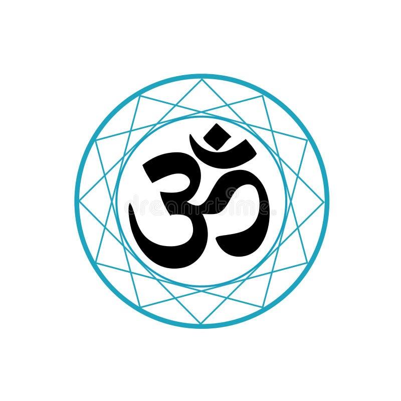 Religiöst symbol av Hinduism stock illustrationer