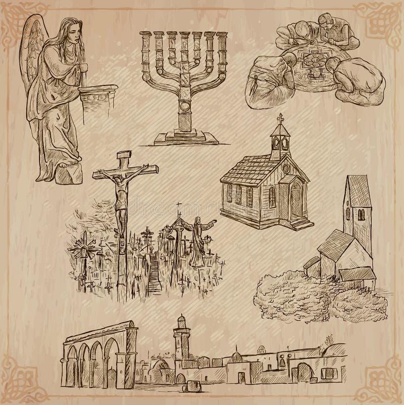 Religia dookoła świata Wektor paczka ilustracja wektor