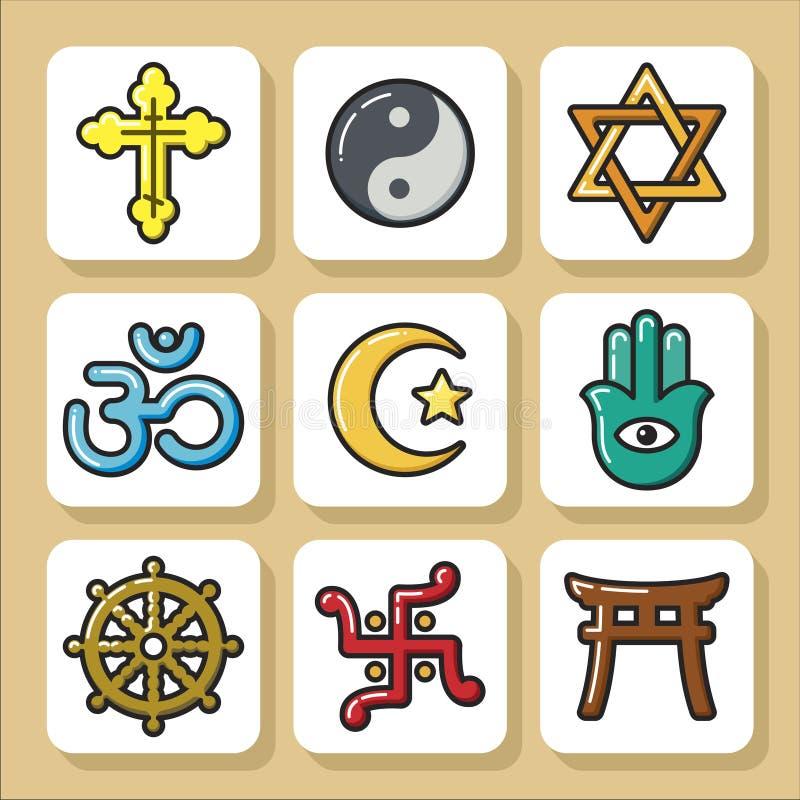 Religia icons_1 ilustracji