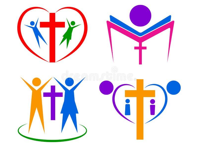Religia loga ludzie ilustracja wektor