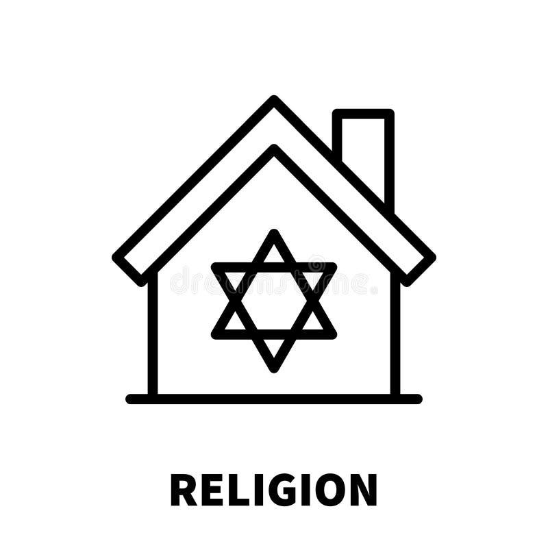Religia logo w nowożytnym kreskowym stylu lub ikona ilustracja wektor