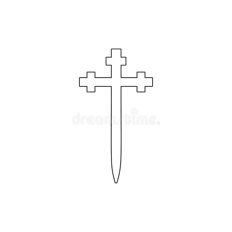 Religia symbol, Aaronic rozkazu konturu kościelna ikona Element religia symbolu ilustracja Znaki i symbol ikona mogą używać royalty ilustracja