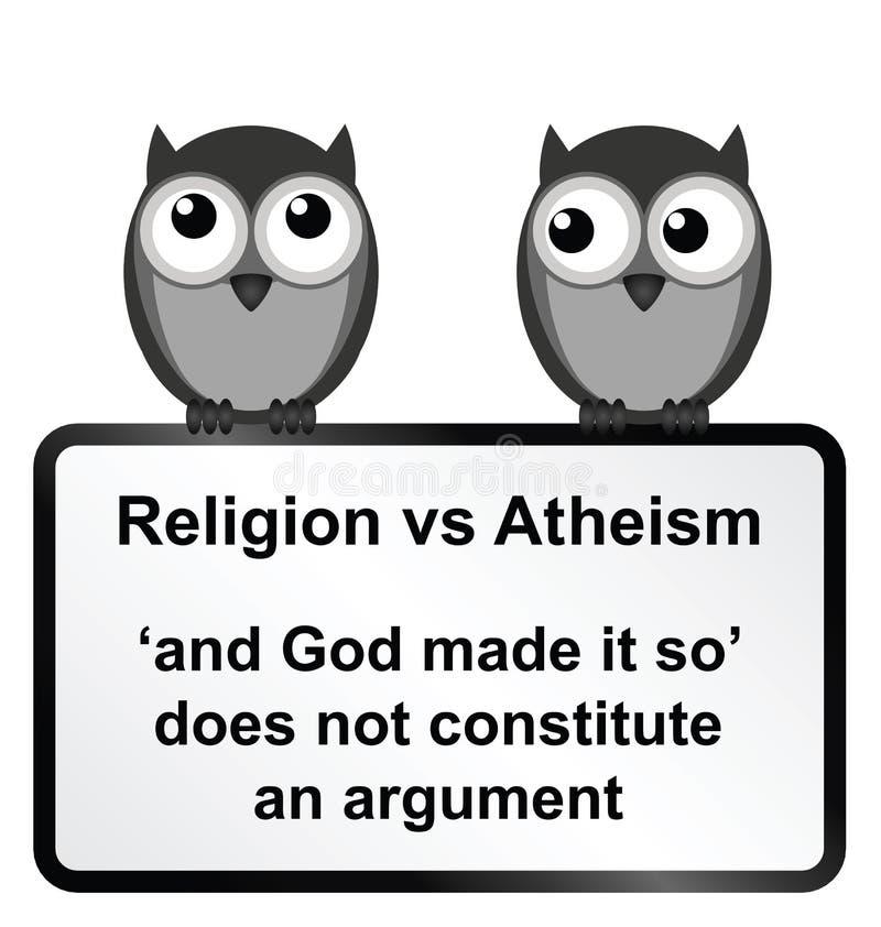 Religia wersetów ateizm royalty ilustracja