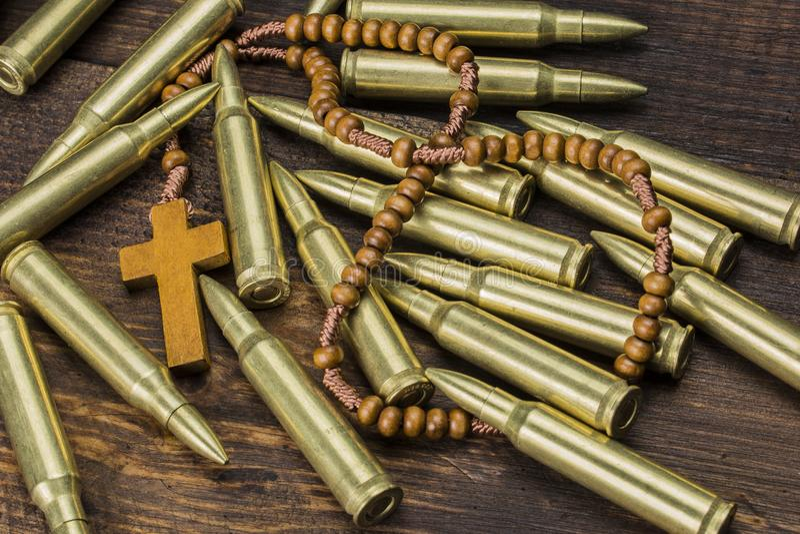 Religia z broniami obraz stock