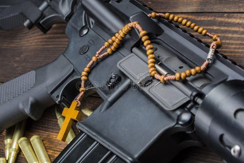 Religia z broniami zdjęcie royalty free