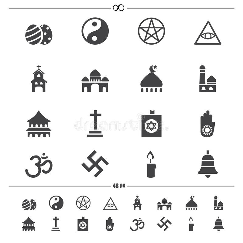 Religii ikony ilustracja wektor