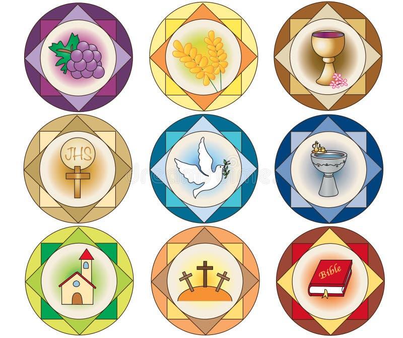 Religii ikony ilustracji
