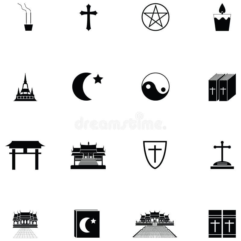 Religii ikony set ilustracja wektor