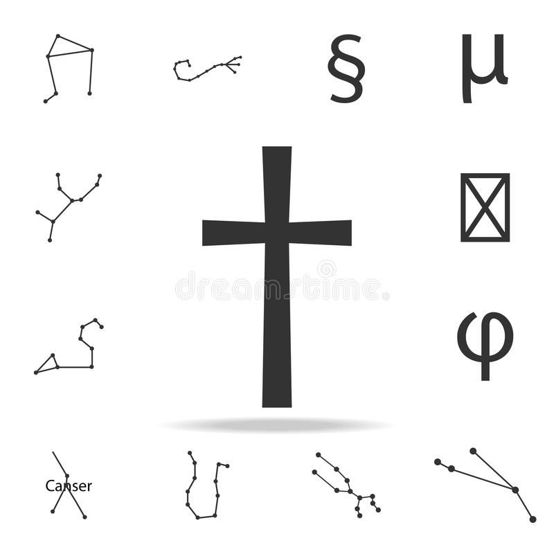 Religii przecinająca ikona Szczegółowy set sieci ikony Premii ilości graficzny projekt Jeden inkasowe ikony dla stron internetowy ilustracji