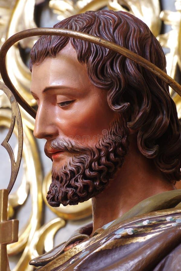 Religii sztuki Josef portreta rzeźba zdjęcie royalty free