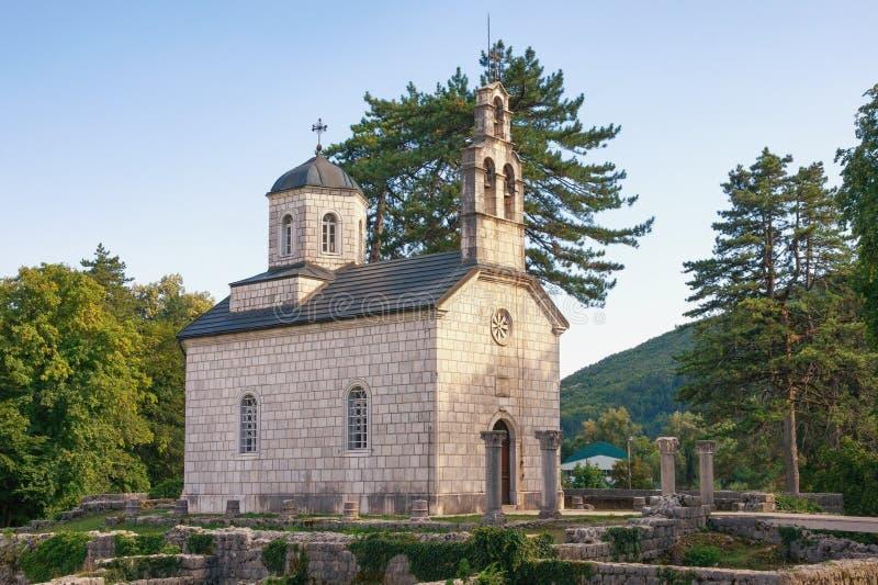 Religijna architektura Montenegro, Cetinje miasteczko, Dworski kościół przy Cipur zdjęcie royalty free