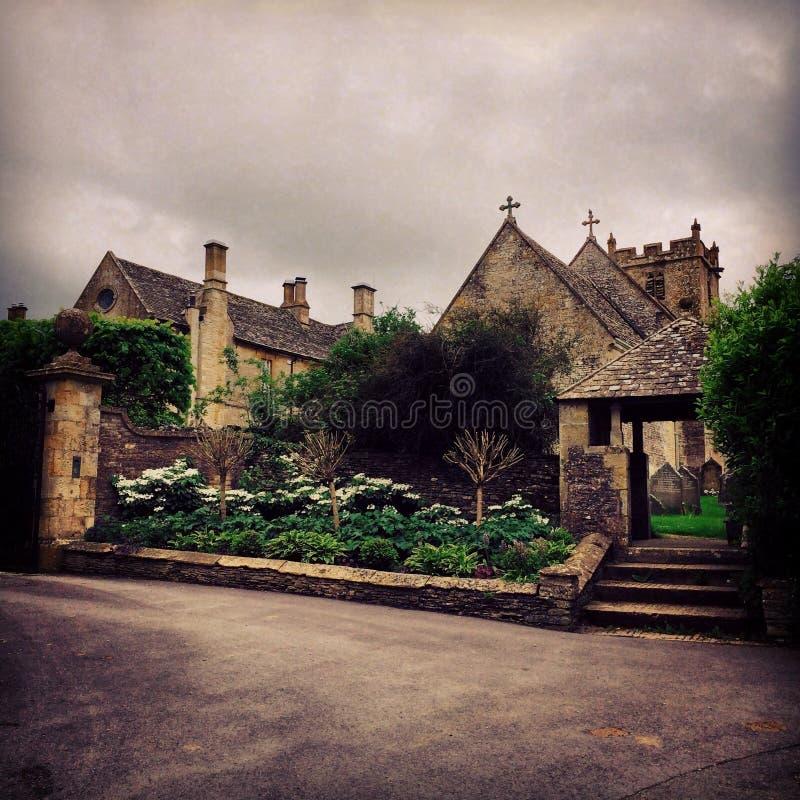 Religijna architektura w wiosce zdjęcie royalty free