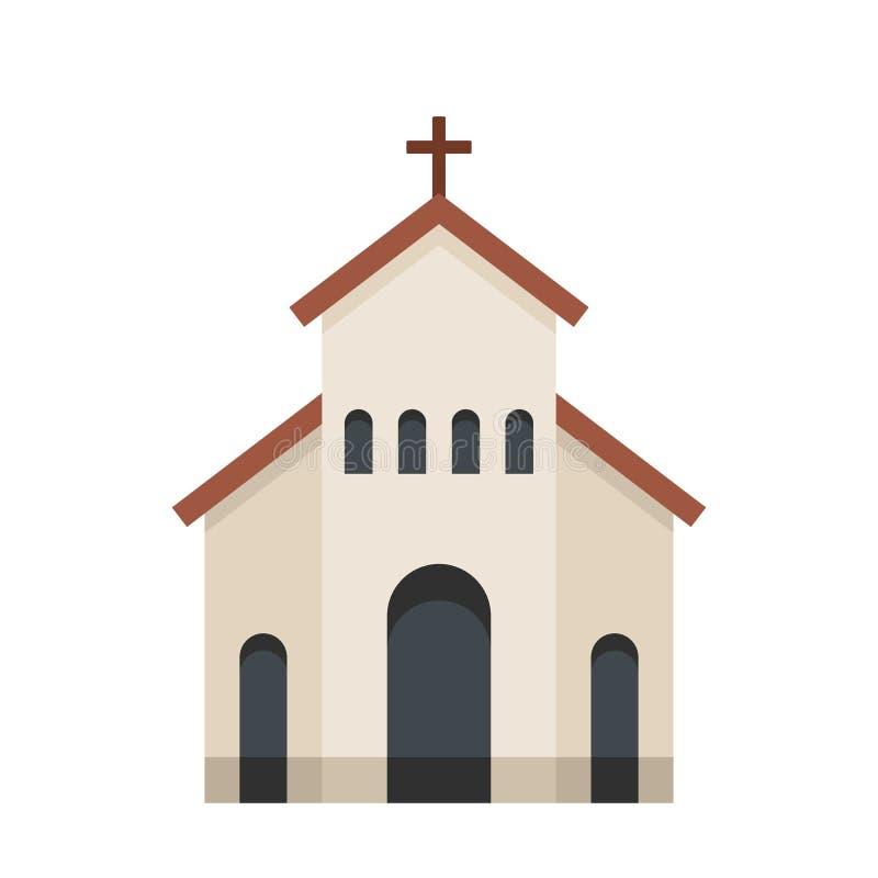 Religijna kościelna ikona, mieszkanie styl royalty ilustracja