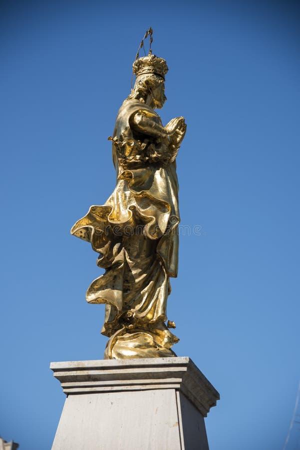 Religijna statua Valletta Malta zdjęcie royalty free