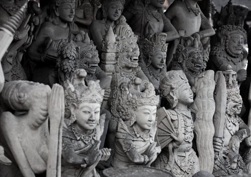 Religijne kamienne statuy. Indonezja, Bali obrazy stock